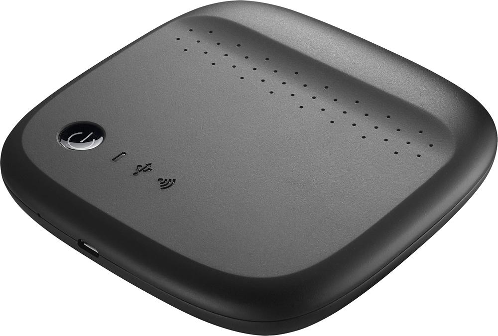 Seagate - Wireless Mobile Storage 500GB External USB Portable Hard Drive - Black