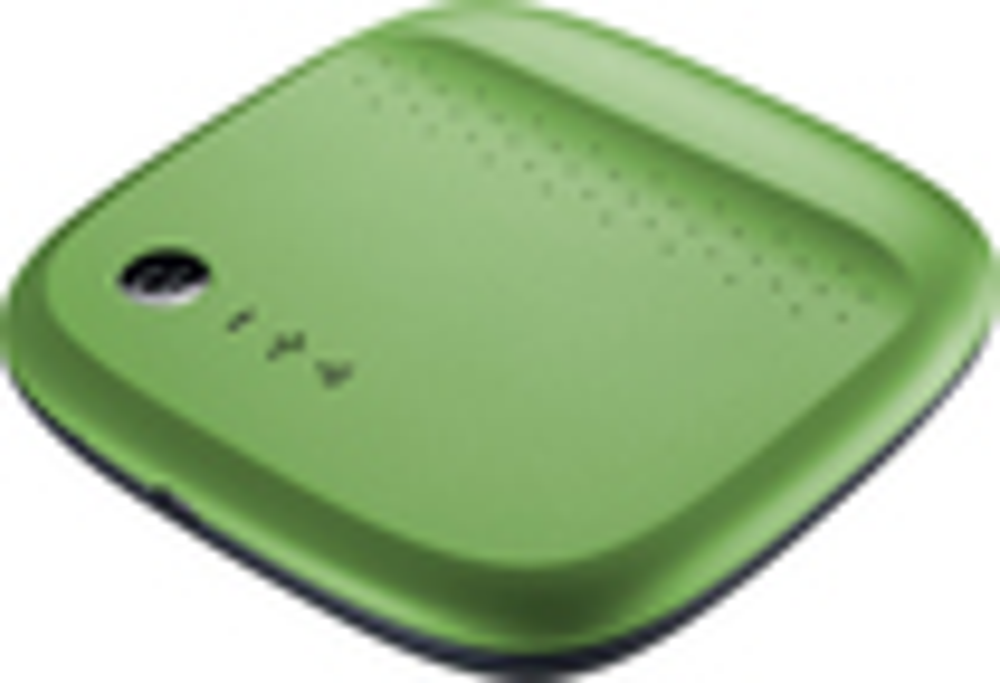 Seagate - Wireless Mobile Storage 500GB External USB Portable Hard Drive - Green