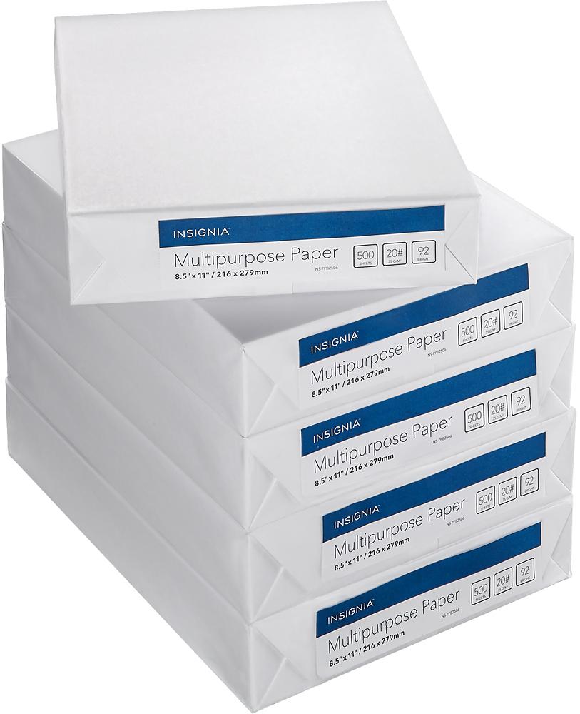 Insignia™ - 92 Bright Multipurpose Paper (5-Ream Pack) - White