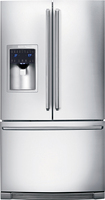 Electrolux - 26.7 Cu. Ft. French Door Refrigerator with Thru-the-Door Ice and Water - Stainless-Steel