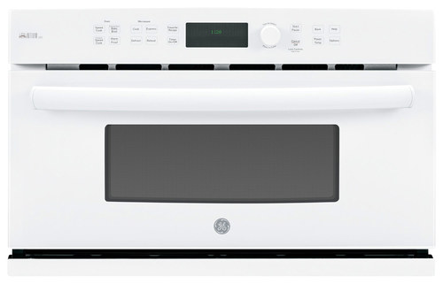 GE - Profile Series Advantium 120V 1.7 Cu. Ft. Built-In Microwave - White-on-White