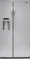 LG - 26.5 Cu. Ft. Side-by-Side Refrigerator with Thru-the-Door Ice and Water - Stainless-Steel