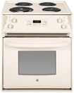 "Ge - 27"" Self-cleaning Drop-in Electric Range - Bisque 2518078"
