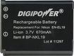 DigiPower - Lithium-Ion Battery for Nikon Coolpix S3100 and S4100 Digital Cameras - Black