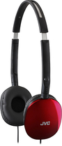 JVC - FLATS Over-the-Ear Headphones - Red