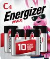 Energizer - MAX Batteries C (4-Pack)