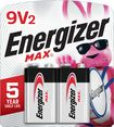 Energizer - MAX Batteries 9V (2-Pack)