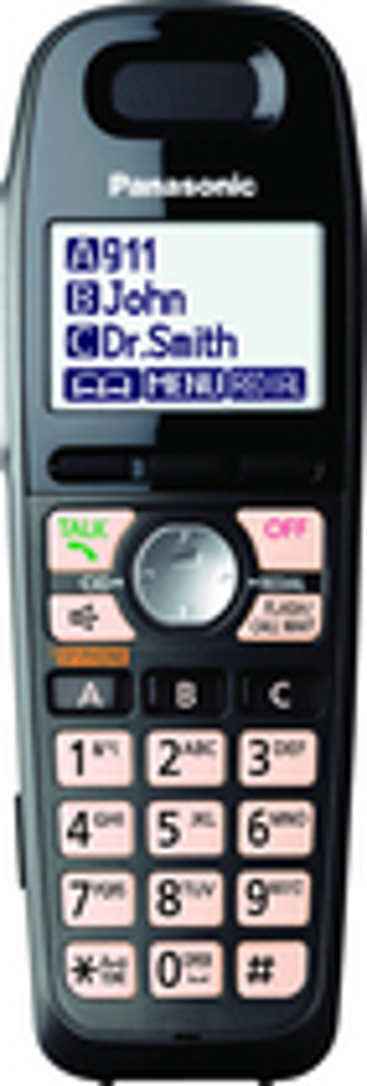 Panasonic - KX-TGA659T Dect 6.0 Cordless Expansion Handset - Black
