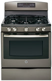 """GE - 30"""" Self-Cleaning Freestanding Gas Convection Range - Slate"""