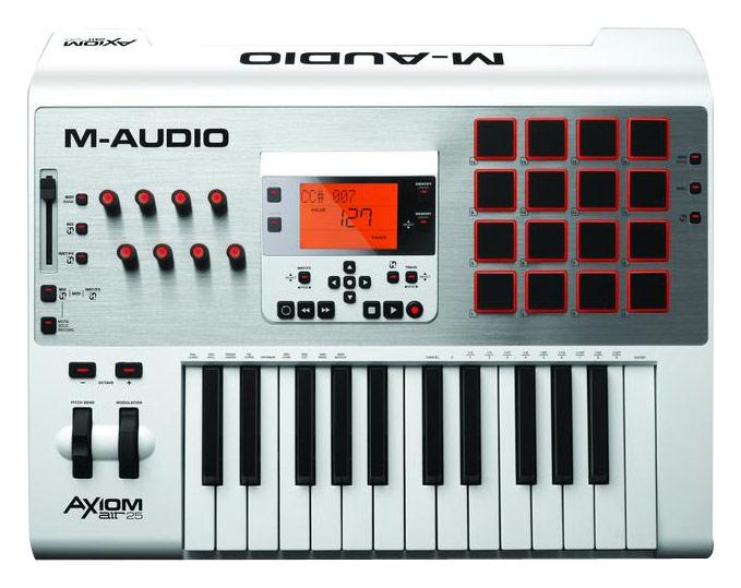 M-Audio - Axiom AIR 25 Premium Keyboard and Pad Controller - White