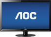 "AOC - 23.6"" LED HD Monitor - Black"