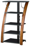 "Whalen Furniture - A/V Tower for Most Flat-Panel TVs Up to 30"" - Brown"