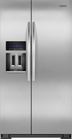 KitchenAid - 26.4 Cu. Ft. Side-by-Side Refrigerator with Thru-the-Door Ice and Water - Stainless/Stainless look