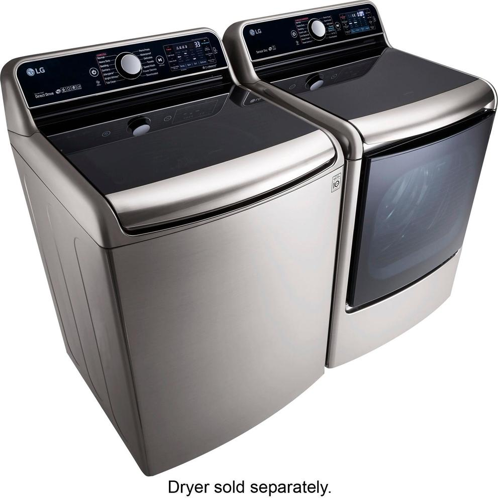 lg 57 cu ft 14cycle toploading washer with steam graphite steel at pacific sales