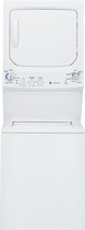 GE - 3.3 Cu. Ft. 9-Cycle Washer and 5.9 Cu. Ft. 4-Cycle Dryer Electric Laundry Center - White-on-White