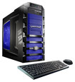 CybertronPC - Doom III Desktop - Intel Core i7 - 32GB Memory - 2TB Hard Drive + Two 120GB Solid State Drives - Black/Blue