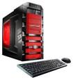 CybertronPC - Doom II Desktop - Intel Core i7 - 32GB Memory - 2TB Hard Drive + 120GB Solid State Drive - Black/Red