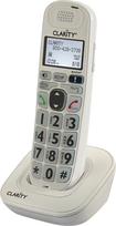 Clarity - DECT 6.0 Cordless Expansion Handset for Clarity D7xx Series Phone Systems - White