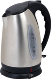 Elite Platinum - 1.7L Cordless Electric Kettle - Black/Silver