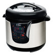 Maxi-Matic - 8-Quart Pressure Cooker - Black/Stainless-Steel