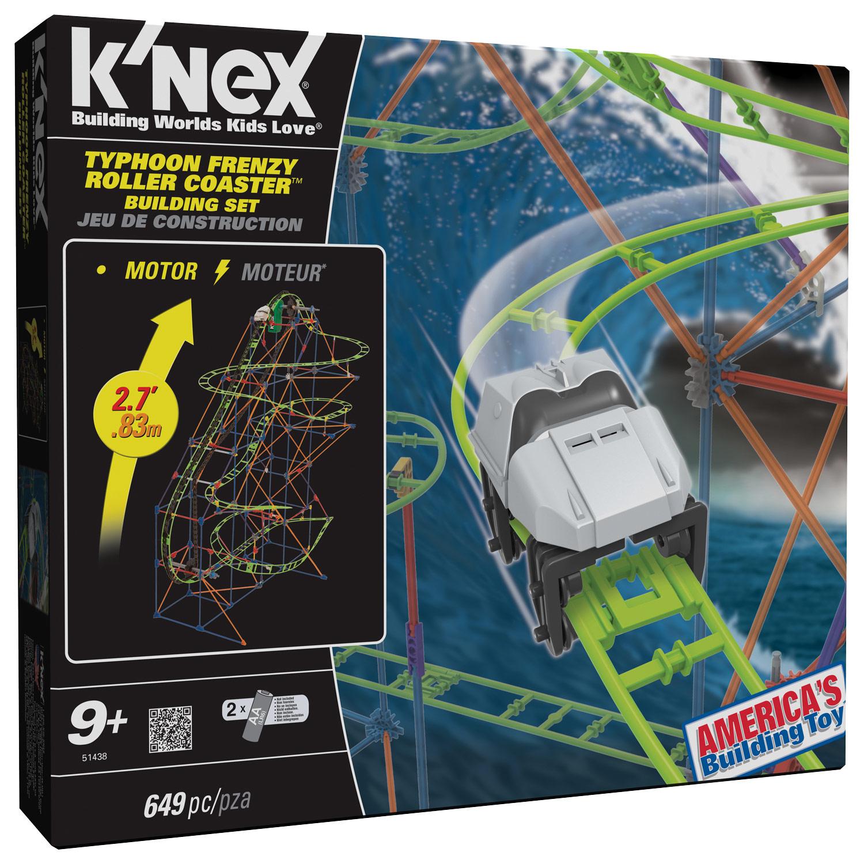 K'NEX - Thrill Rides Typhoon Frenzy Roller Coaster Building Set - Multi