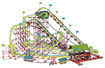 K'NEX - Thrill Rides Son of Serpent Giant Roller Coaster Building Set - Multi