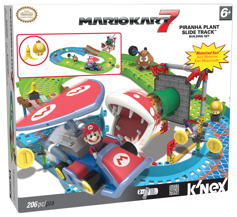 K'NEX - Mario Kart 7 Piranha Plant Slide Track Building Set - Multi