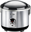 Oster - 10-cup Digital Rice Cooker - Stainless-steel/black