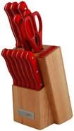 PureLife - 13-Piece Knife Set - Wood/Red