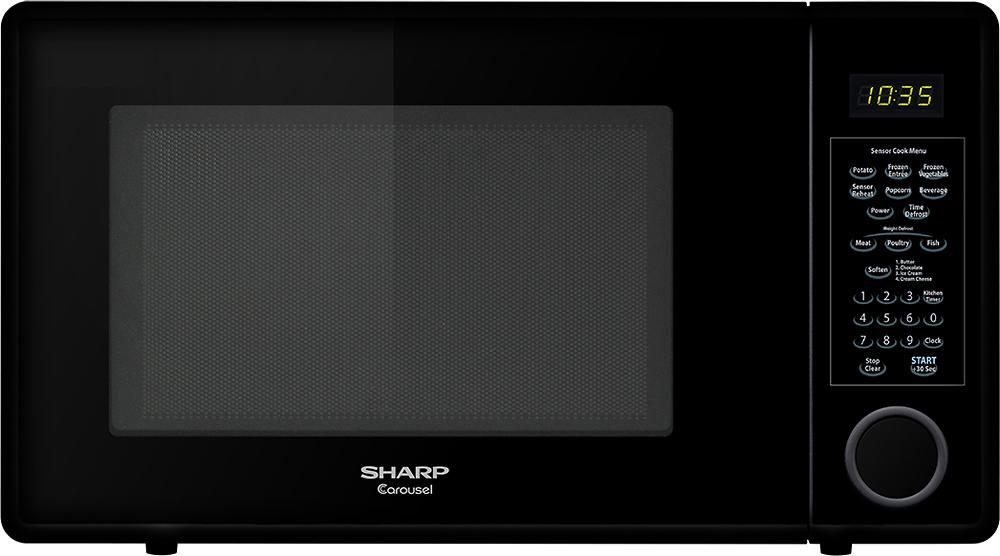 Sharp - 1.3 Cu. Ft. Mid-Size Microwave - Black