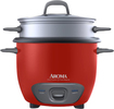 Aroma - 6-Cup Rice Cooker - Red