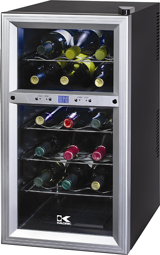 Kalorik - 18-Bottle Wine Cooler - Black/Silver
