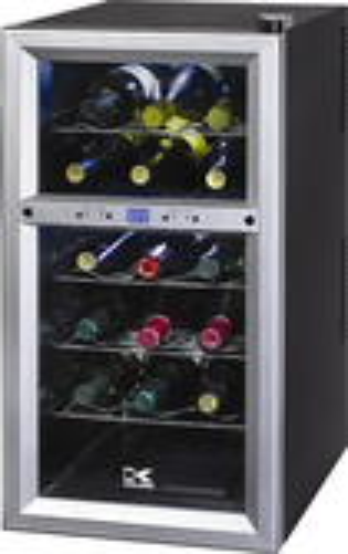 Kalorik - 18-Bottle Wine Cooler - Black/Silver