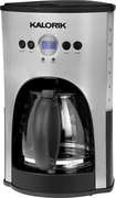 Kalorik - 12-Cup Programmable Coffeemaker - Black/Stainless-Steel
