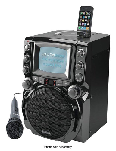 Karaoke USA - CD/Cd+g Karaoke System - Black