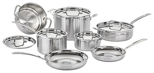 Cuisinart - MultiClad Pro 12-Piece Cookware Set