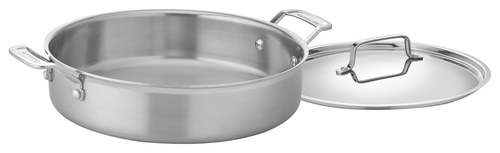 Cuisinart - MultiClad Pro 5-1/2-Quart Casserole with Cover - Stainless-Steel