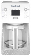 Cuisinart - Crystal 14-Cup Coffeemaker - White/Stainless-Steel