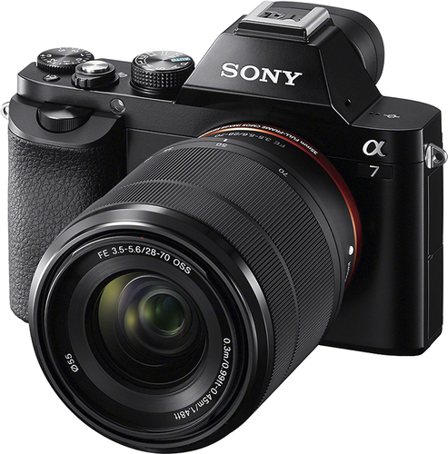 Sony Alpha a7 Full-Frame Mirrorless Camera with 28-70mm Lens Black ...