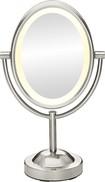 Conair - True Glow Lighted Makeup Mirror - Nickel