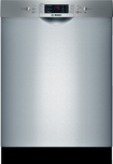 "Bosch - Evolution 300 Series 24"" Tall Tub Built-In Dishwasher - Stainless-Steel"