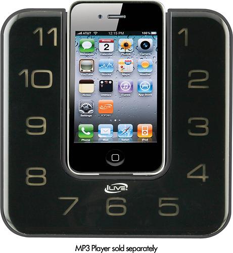 iLive - Clock Radio - Stereo - Apple Dock Interface - White