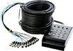 Hot Wires - 100' Stage Snake with 8 Channels - Black