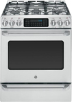 "GE - Café 30"" Self-Cleaning Freestanding Dual Fuel Convection Range - Stainless/Stainless look"