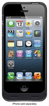 MOTA - Battery Case for Apple® iPhone® 5 and 5s - Black/Clear