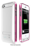 MOTA - Battery Case for Apple® iPhone® 5 and 5s - Silver/Pink/Clear