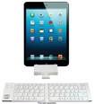 iwerkz - Keyboard Docking Station for Apple® iPad® and iPhone® - White