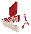 iwerkz - Keyboard Docking Station for Apple® iPad® and iPhone® - Red