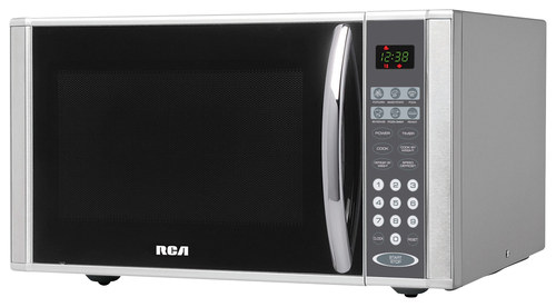 RCA - 1.1 Cu. Ft. Mid-Size Microwave - Stainless Steel (Silver)