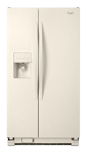 Whirlpool - 25.4 Cu. Ft. Side-by-Side Refrigerator with Thru-the-Door Ice and Water - Biscuit